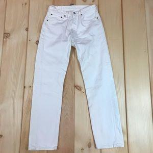 Vintage Levi's White 501 Button Fly Jeans 31x32